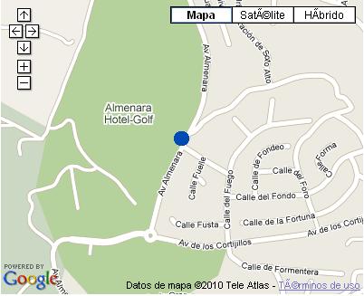 Plano de acceso de Hotel Almenara