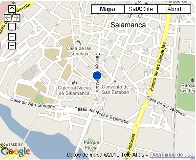 Plano de acceso de Hotel Nh Palacio De Castellanos