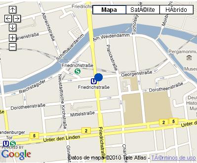 Plano de acceso de Hotel Nh Berlin Friedrichstrasse