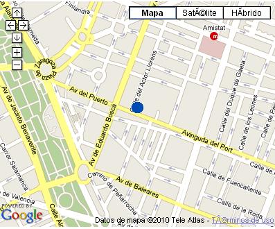 Plano de acceso de Hotel Nh Villacarlos