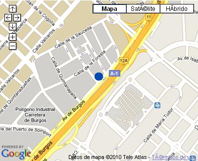Plano de acceso de Hotel Nh Las Tablas