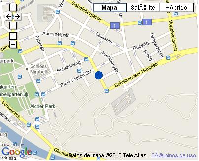 Plano de acceso de Hotel Nh Salzburg-City