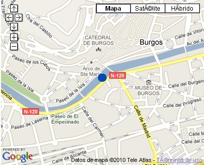 Plano de acceso de Hotel Nh Palacio De La Merced