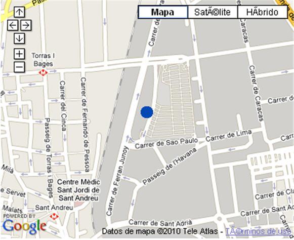 Plano de acceso de Hotel Nh La Maquinista