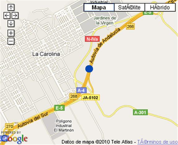 Plano de acceso de Hotel Nh La Perdiz