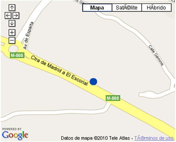 Plano de acceso de Hotel Nh Monte Rozas