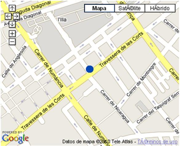 Plano de acceso de Hotel Nh Les Corts
