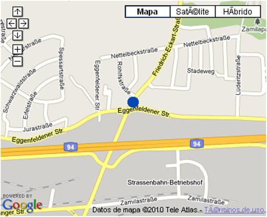 Plano de acceso de Hotel Nh Muenchen Neue Messe