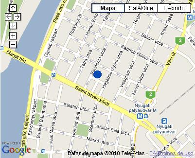 Plano de acceso de Hotel Nh Budapest