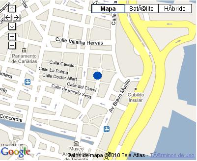 Plano de acceso de Hotel Nh Tenerife