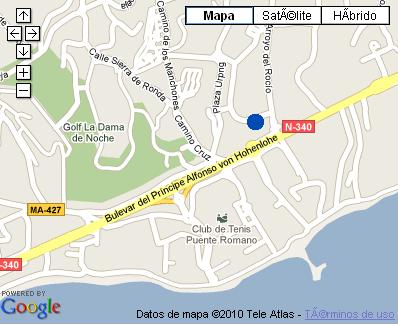 Plano de acceso de Hotel Nh Alanda