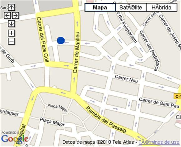 Plano de acceso de Hotel Nh Ciutat De Vic