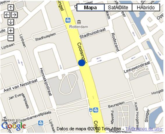 Plano de acceso de Hotel Nh Atlanta Rotterdam