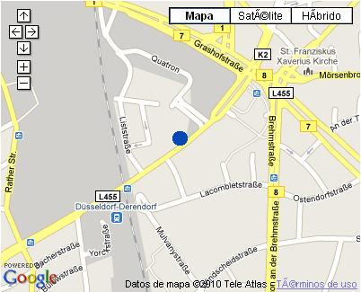 Plano de acceso de Hotel Nh Dusseldorf City Nord
