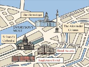 Plano de acceso de Hotel Astoria