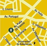 Plano de acceso de Aparthotel Hall88