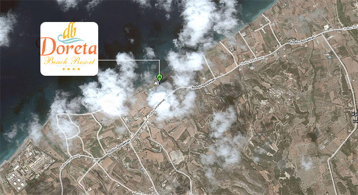 Plano de acceso de Hotel Doreta Beach Resort
