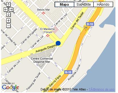 Plano de acceso de Hotel Ac Barcelona Forum