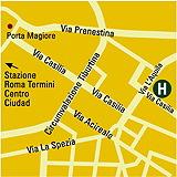 Plano de acceso de Hotel Eurostars Roma Aeterna