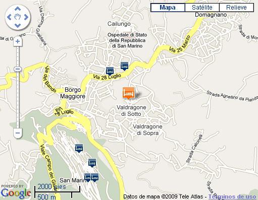 Plano de acceso de Hotel San Giuseppe