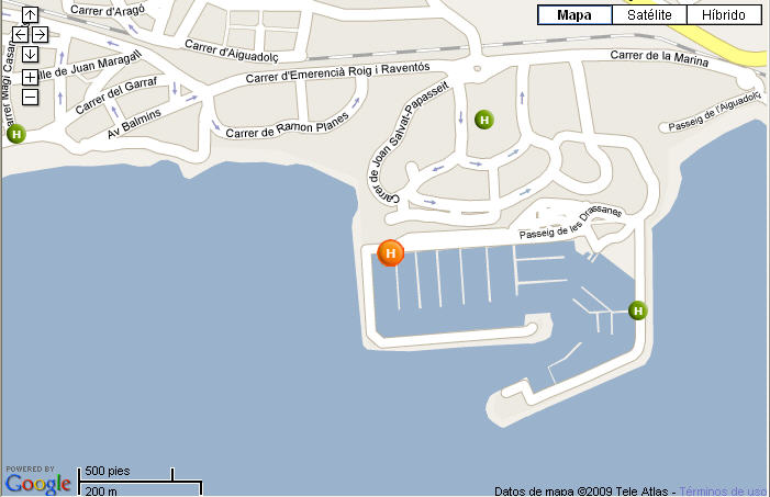Plano de acceso de Hotel Port Sitges Resort