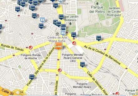 Plano de acceso de Hotel Ac Carlton