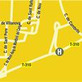 Plano de acceso de Hotel Termes Montbrio