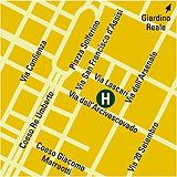 Plano de acceso de Golden Palace Hotel
