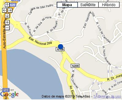 Plano de acceso de Hotel Pousada Porto Palacio Do Freixo