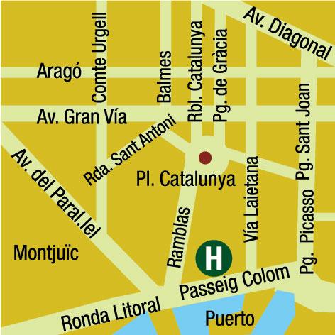Plano de acceso de Hotel Duquesa De Cardona