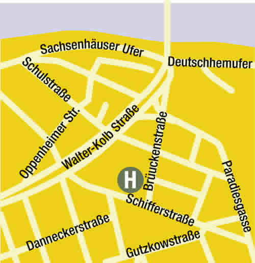 Plano de acceso de Maingau Hotel