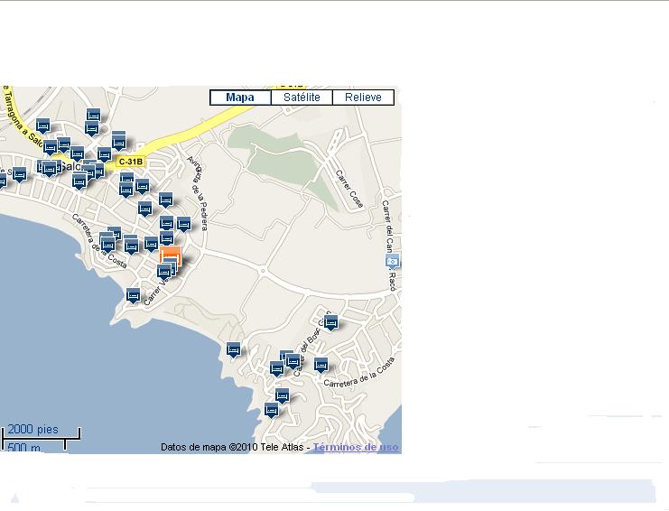 Plano de acceso de Hotel H10 Mediterranean Village