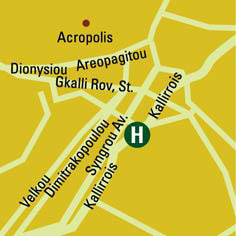 Plano de acceso de Hotel The Athenian Callirhoe