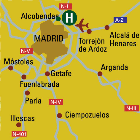 Plano de acceso de Hotel Eurostars Gran Madrid
