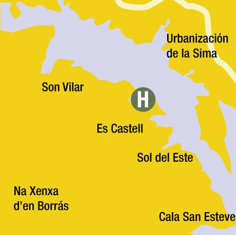Plano de acceso de Hotel Rey Carlos Iii