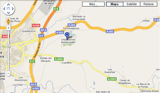 Plano de acceso de Hotel Barcelo Montecastillo Golf
