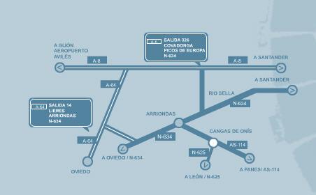 Plano de acceso de Hotel Imperion