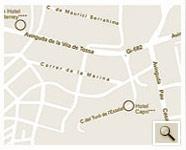 Plano de acceso de Hotel Roma Aurea