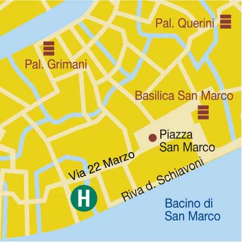 Plano de acceso de Hotel Torino ( Classic)