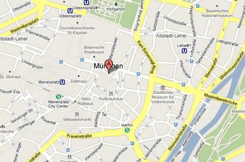 Plano de acceso de Hotel An Der Oper