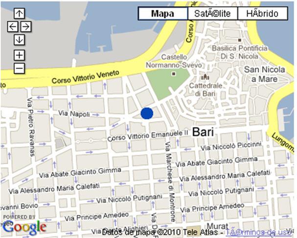 Plano de acceso de Palace Hotel