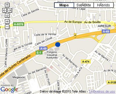 Plano de acceso de Hotel Vertice Aljarafe