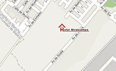 Plano de acceso de Hotel Miralcampo