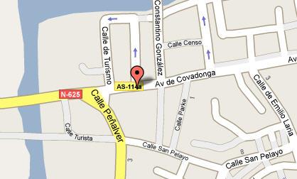 Plano de acceso de Hotel Acebos Cangas