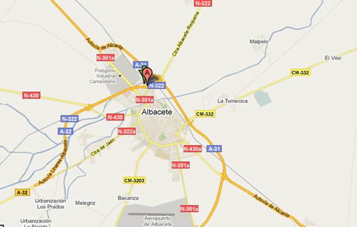 Plano de acceso de Hotel Beatriz Albacete And Spa