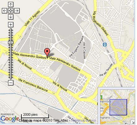 Plano de acceso de Hotel Nuovo Palazzo Di Gustizia
