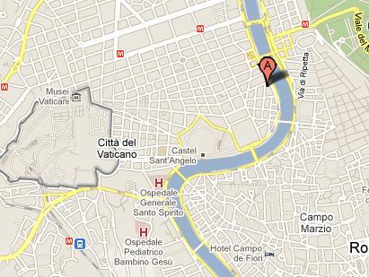 Plano de acceso de Hotel Dei Mellini