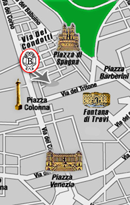 Plano de acceso de Hotel Dei Borgognoni