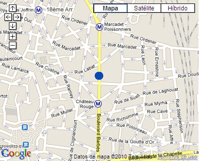 Plano de acceso de Hotel Best Western Montmartre