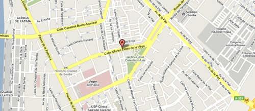 Plano de acceso de Hotel Sevilla Palmera